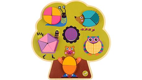 OOPS Vkládací dřevěné puzzle Les