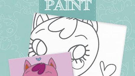AVENUE MANDARINE Malování na plátno Kočička