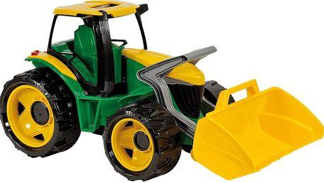 LENA Traktor se lžíci, zelenožlutý