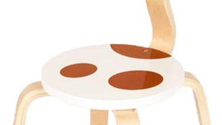 SCRATCH Dřevěná dětská židle Kravička