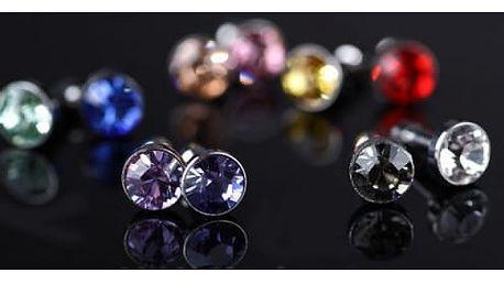 Ozdobné ochrany proti prachu s kamínkem do 3,5 mm vstupu - 10 kusů