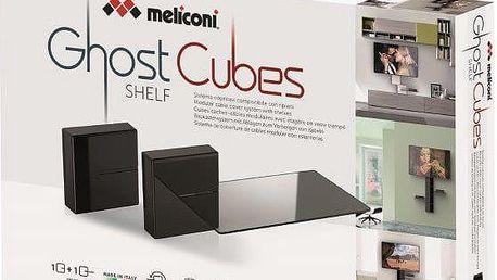 Meliconi GHOST CUBE cover, černá - 480524 + Zdarma Meliconi C-35 P Čisticí sprej 35 ml + utěrka z mikrovlákna + štěteček, k čištění (v ceně 139,-)