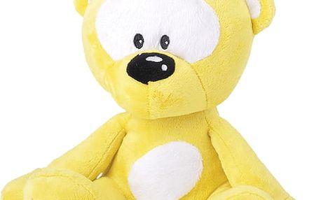 Mikro Trading a.s. Medvídek plyšový 30cm svítící ve tmě žlutý 0m+ v sáčku