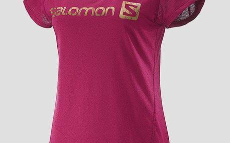 Tričko Salomon ELEVATE SS TECH TEE W Gaura Pink XS Růžová