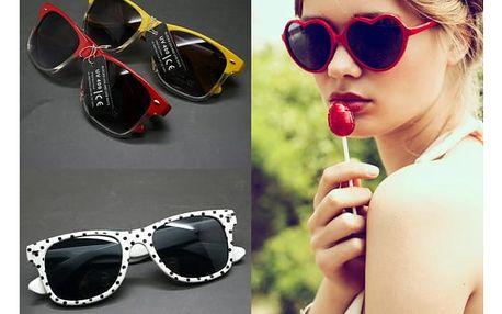 Barevné sluneční brýle různých tvarů Sunny - VÝPRODEJ