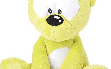Mikro Trading a.s. Medvídek plyšový 30cm svítící ve tmě zelený 0m+ v sáčku