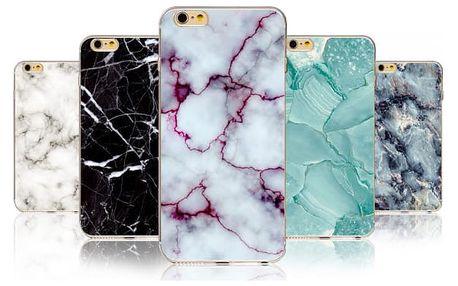 Kryt na iPhone s motivy mramoru - různé druhy
