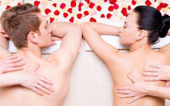 Valentýnská masáž se sektem a fondue