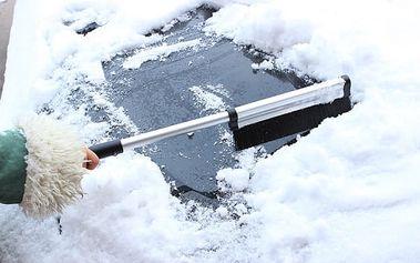 Teleskopický kartáč na sníh se škrabkou - dodání do 2 dnů