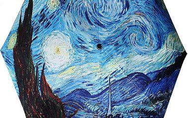 Deštník s motivem olejomalby noční oblohy