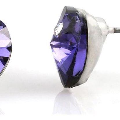 Fashion Icon Náušnice pecky srdce s krystaly Swarovski elements