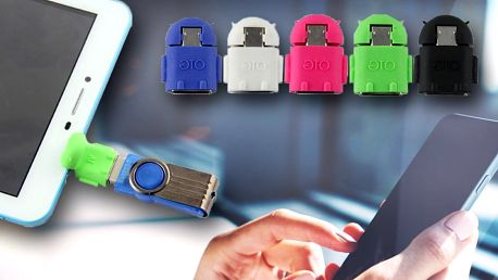 MicroUSB → USB adaptér pro mobily a tablety