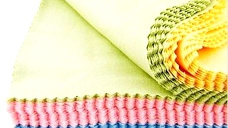 Sada 10 kusů utěrek z mikrovlákna v různých barvách