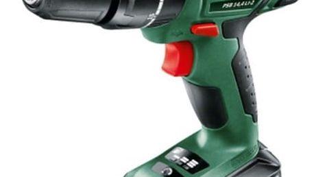 Aku vrtačka Bosch PSB 14,4 LI-2 (1 aku, 2,5 Ah) zelená