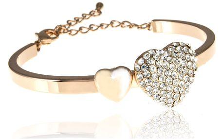 Fashion Icon Náramek srdce s krystalky