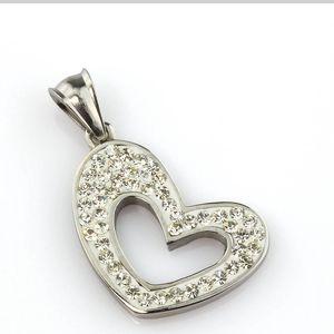 Fashion Icon Přívěsek chirurgická ocel srdce s kamínky