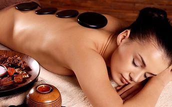 100minutová masáž s prohřátím lávovými kameny