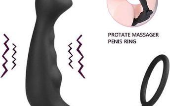 Anální vibrátor na stimulaci prostaty se škrtícím kroužkem