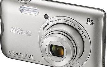 Digitální fotoaparát Nikon Coolpix A300 stříbrný + Doprava zdarma