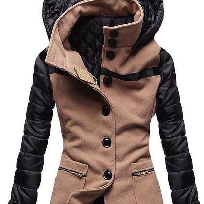 Dámský kabát Alecta hnědý AKCE