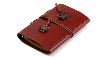 Zápisník s deskami z umělé kůže - 6 barev