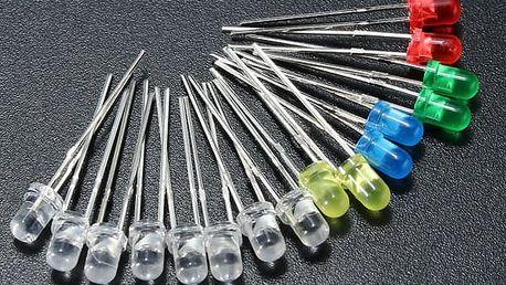 Balení barevných LED diod - 160 kusů