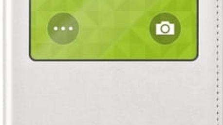 Pouzdro na mobil flipové Samsung pro Galaxy S5 (EF-CG900B) (EF-CG900BWEGWW) bílé