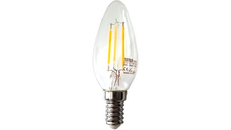 Žárovka LED Tesla Crystal Retro svíčka, 4W, E14, teplá bílá (CL140427-1)
