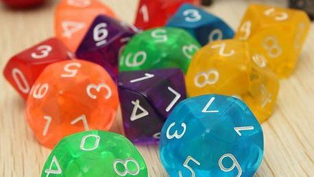 Sada hracích kostek s 10 hranami - dodání do 2 dnů