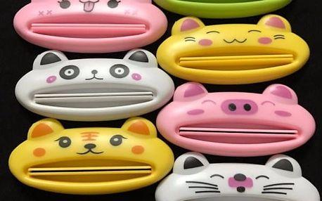 3 kusy dávkovače zubní pasty ve zvířecím designu - 7 variant