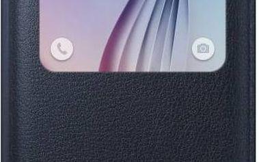 Pouzdro na mobil flipové Samsung S-View pro Galaxy S6 (EF-CG920PB) (EF-CG920PBEGWW) černé