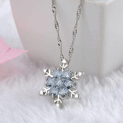 Vintage náhrdelník s přívěskem sněhové vločky