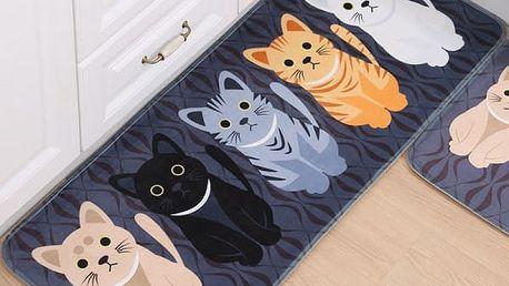 Koberečková předložka s kočičkami - 4 rozměry