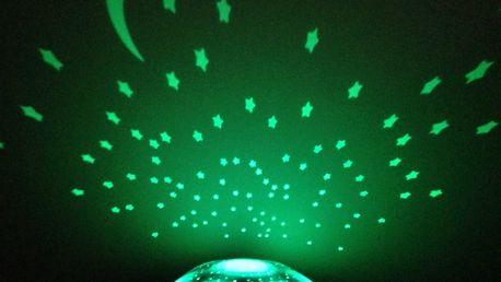 Svítící želvička pro děti: promítá šest souhvězdí ve třech různých barvách, vč. poštovného