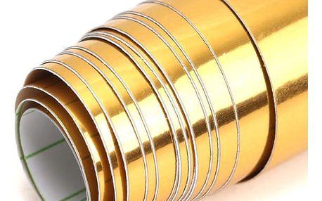 Nalepovací fólie ve zlaté barvě