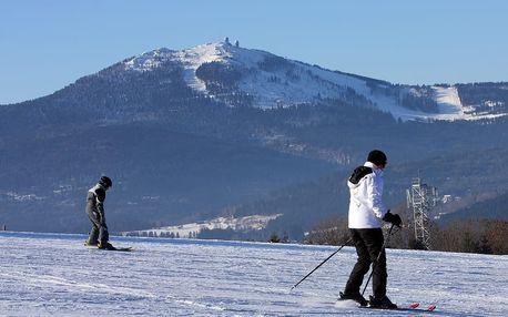 Šumava, Vimperk: zimní či jarní pobyt na 3 nebo 6 dní pro dva. Možnost stravy a sleva na bowling