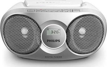 Radiopřijímač s CD Philips AZ215S stříbrný