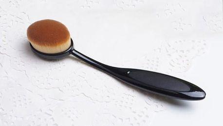 Kosmetický kartáč na nanášení makeupu - černý