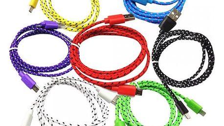 Datový a napájecí Micro USB kabel - 7 barev