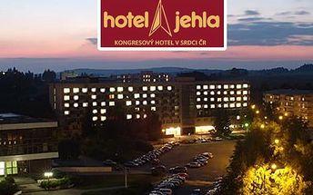 3denní romantický pobyt pro dvě osoby s bohatou polopenzí v oceněném hotelu Jehla***+ roku 2014.