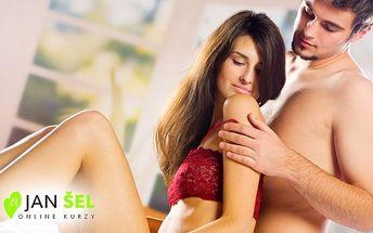 Online kurz partnerských masáží včetně potřebných skript pod vedením Jana Šela