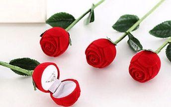 Umělá růže na prstýnek Wedding