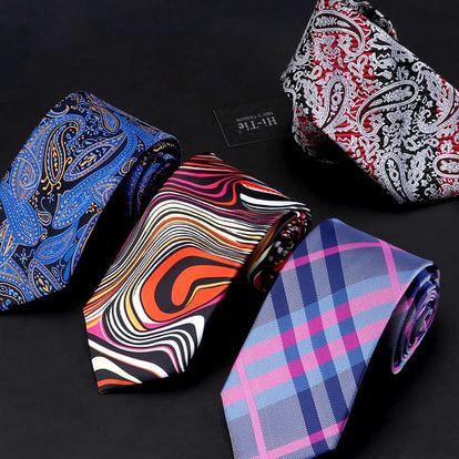 Pánská kravata v mnoha vzorech - šířka 8,5 cm