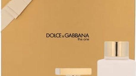 Dolce & Gabbana The One dárková kazeta pro ženy parfémovaná voda 50 ml + tělové mléko 100 ml
