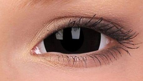 Crazy černé čočky mini sclera nebo univerzální roztok na kontaktní čočky