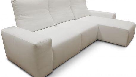 Rohová sedací souprava Genova univerzální (mam122, bílá, látka)