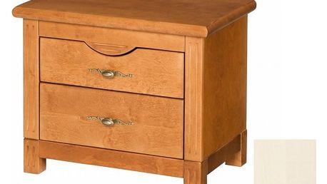 Noční stolek MALAGA 05, bílý krém DOPRODEJ