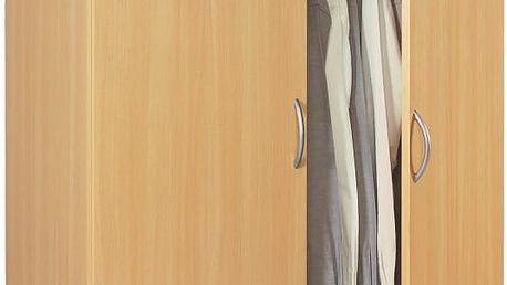 ZYP, šatní skříň 2D, buk