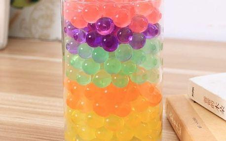 Hydrogelové kuličky v různých barvách - 500 kusů