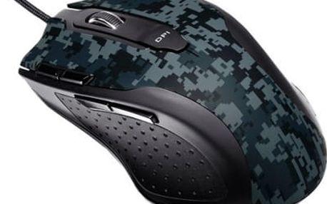Myš Asus Laser Gaming mouse (90YH0051-BBUA00) černá/modrá / laserová / 8 tlačítek / 5600dpi